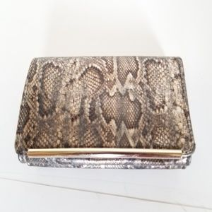 IVANKA TRUMP  faux snake skin purse crossbody bag